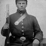 Ambrotypie eines Soldaten aus dem Sezessionskrieg