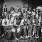 Kollodium-Nassplatte: eine Indianergruppe