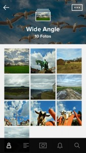 Screenshot Flickr-App auf dem iPhone